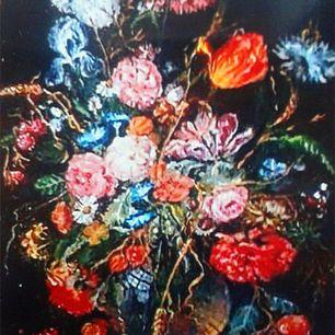 Цветы в вазе и фрукты. Копия художника Ян Давидс де Хем